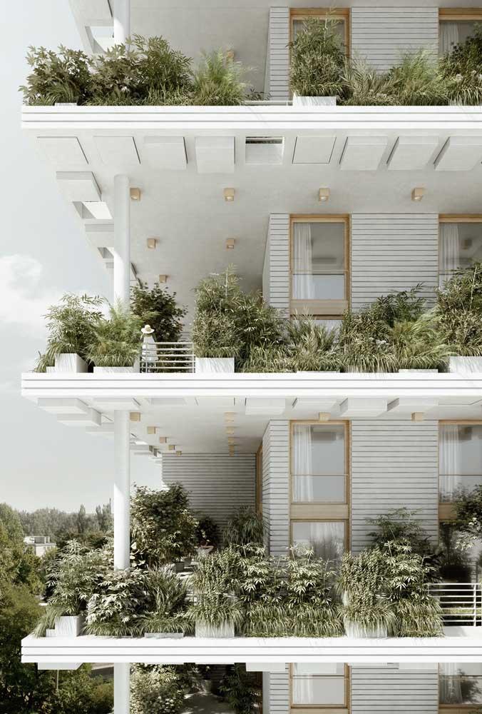 Apartamento também pode ter jardim!