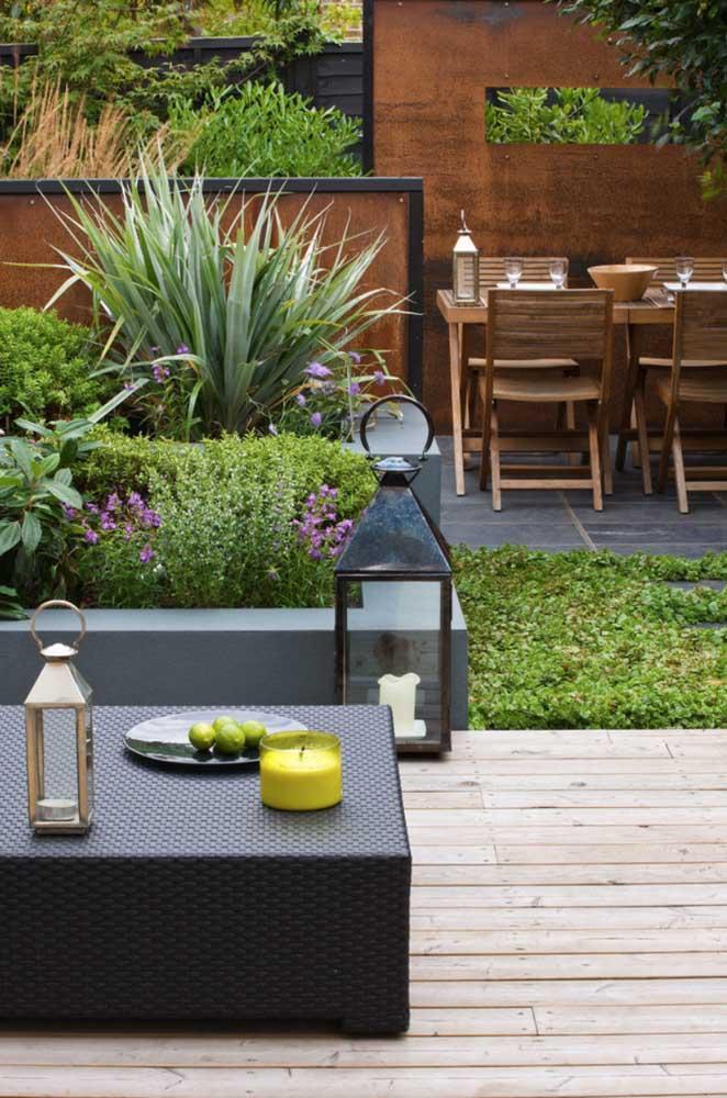 Jardim residencial gourmet para curtir bons momentos em família