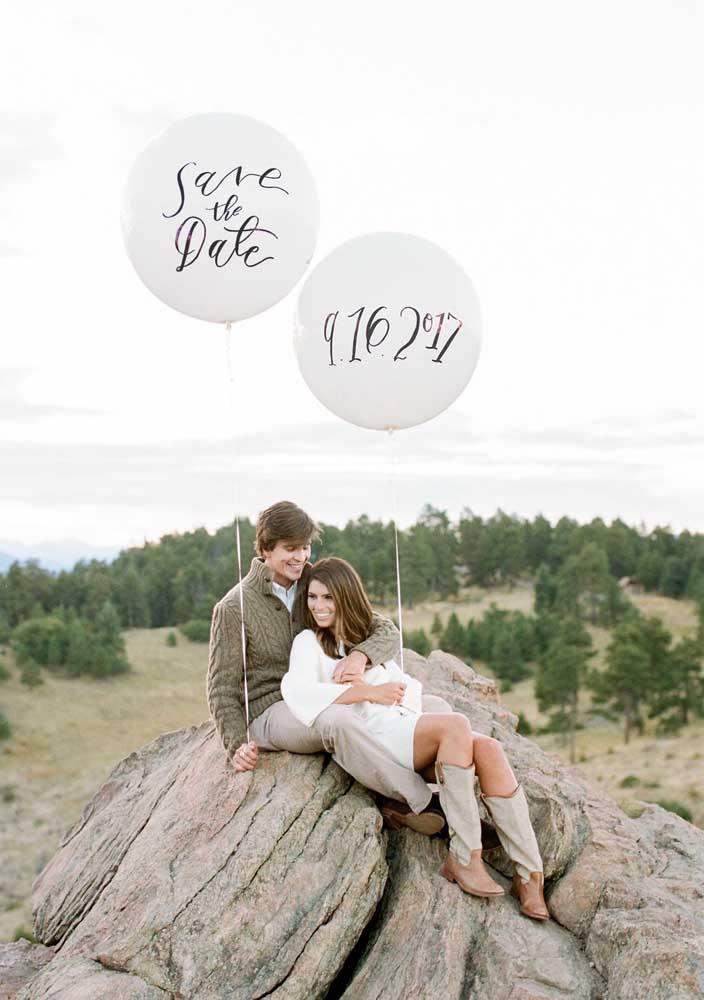 Aqui, mais um exemplo de como fazer um ensaio fotográfico para o save the date