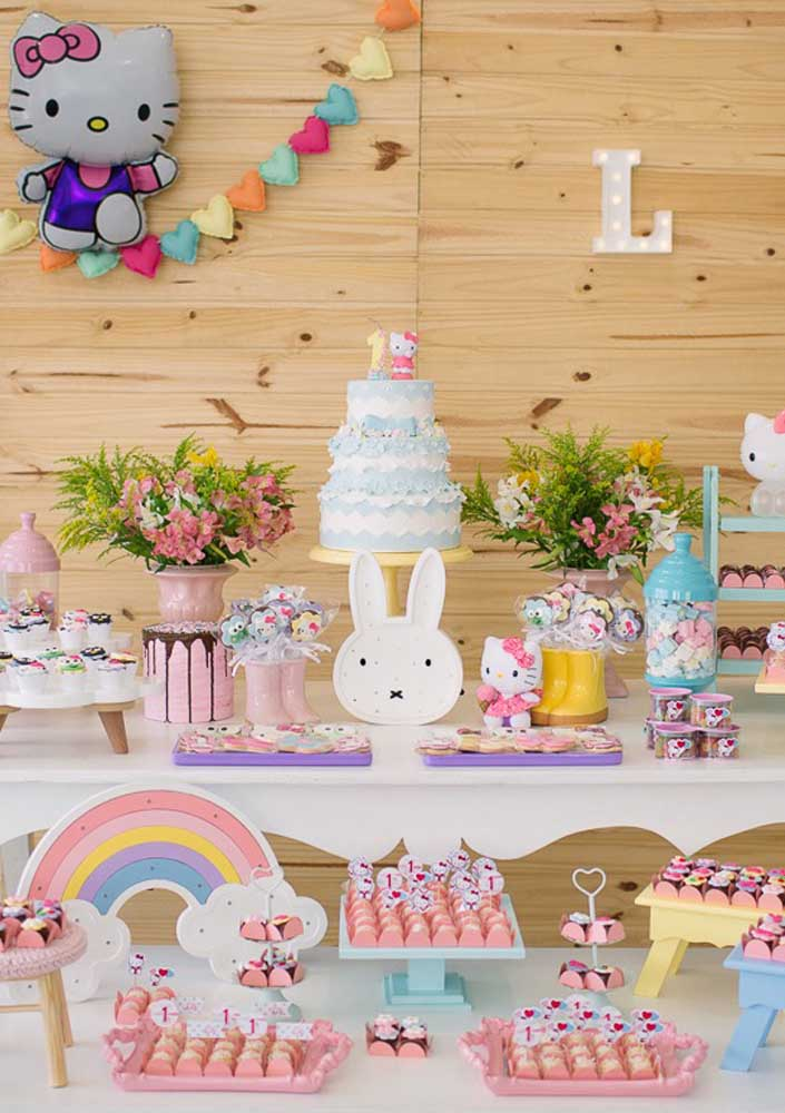 Que tal fazer uma festa Hello Kitty provençal para comemorar o aniversário da sua filha?