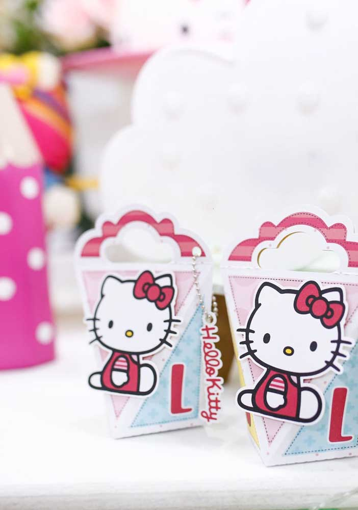 A Hello Kitty é uma personagem muito querida e requisitada como tema de aniversário.