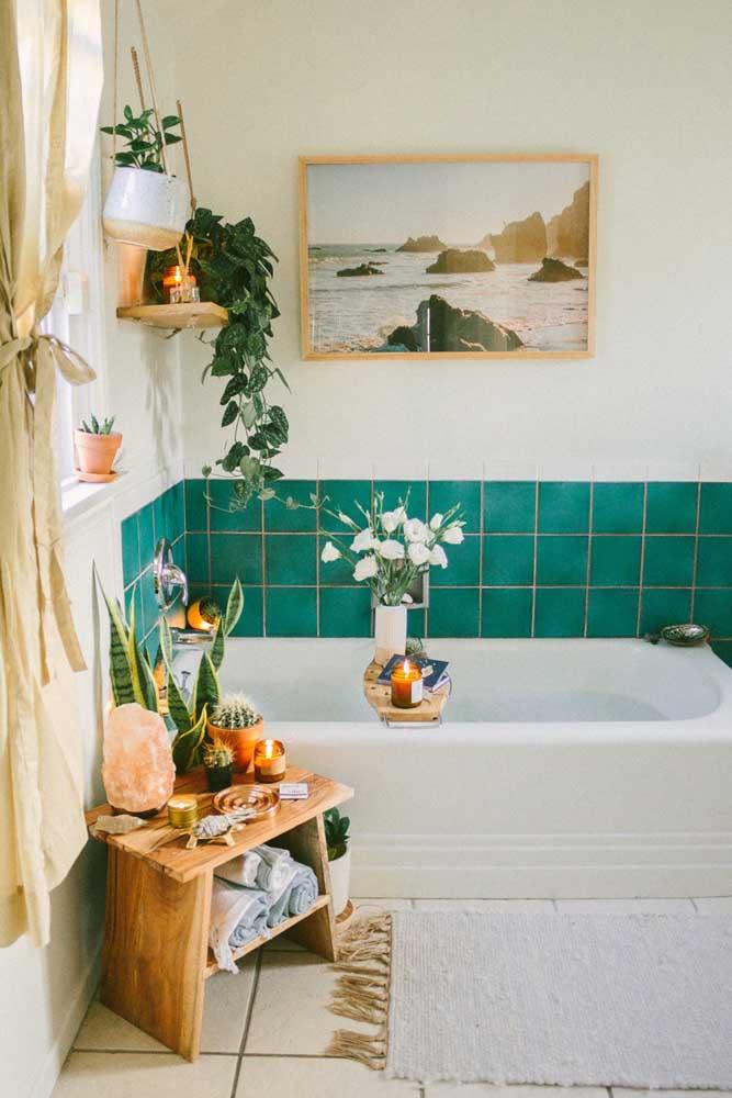 Um novo azulejo para percorrer a banheira