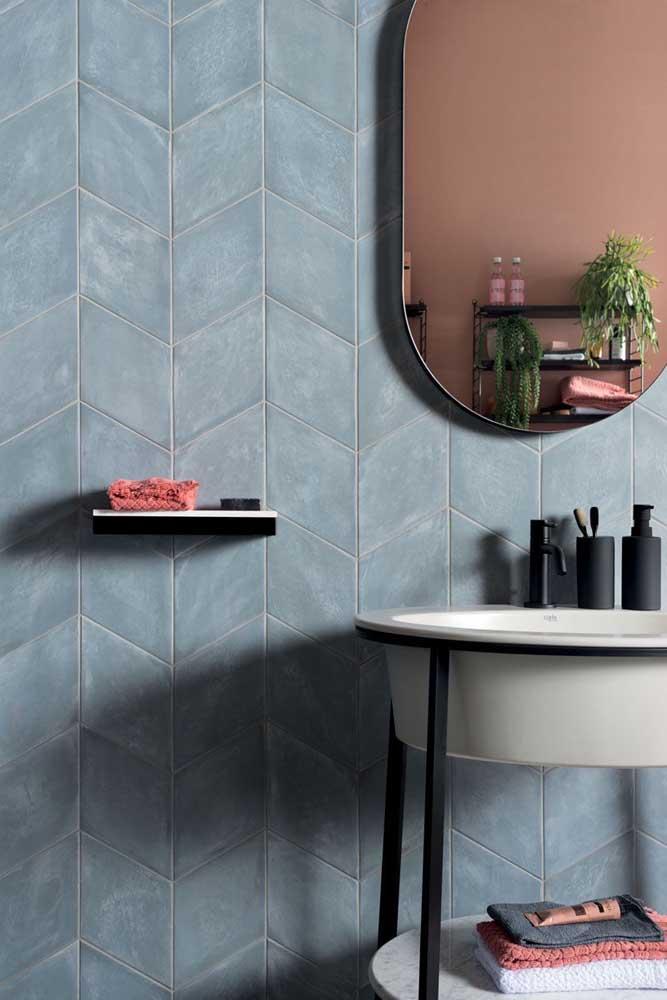 Tinta cinza para um banheiro moderno