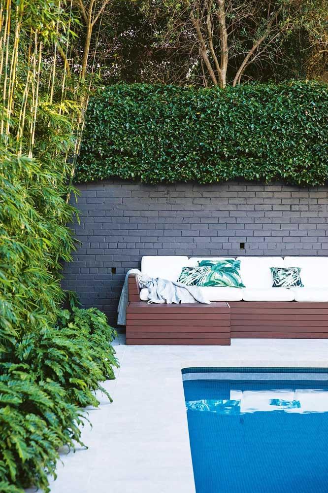Muro inglês natural para a área da piscina. A melhor maneira de agregar estética, natureza e privacidade