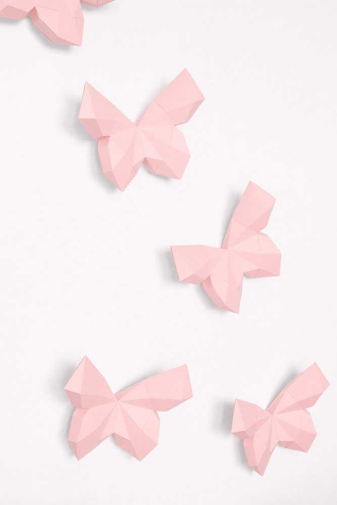 Borboletas de papel 3D para você usar onde e como quiser