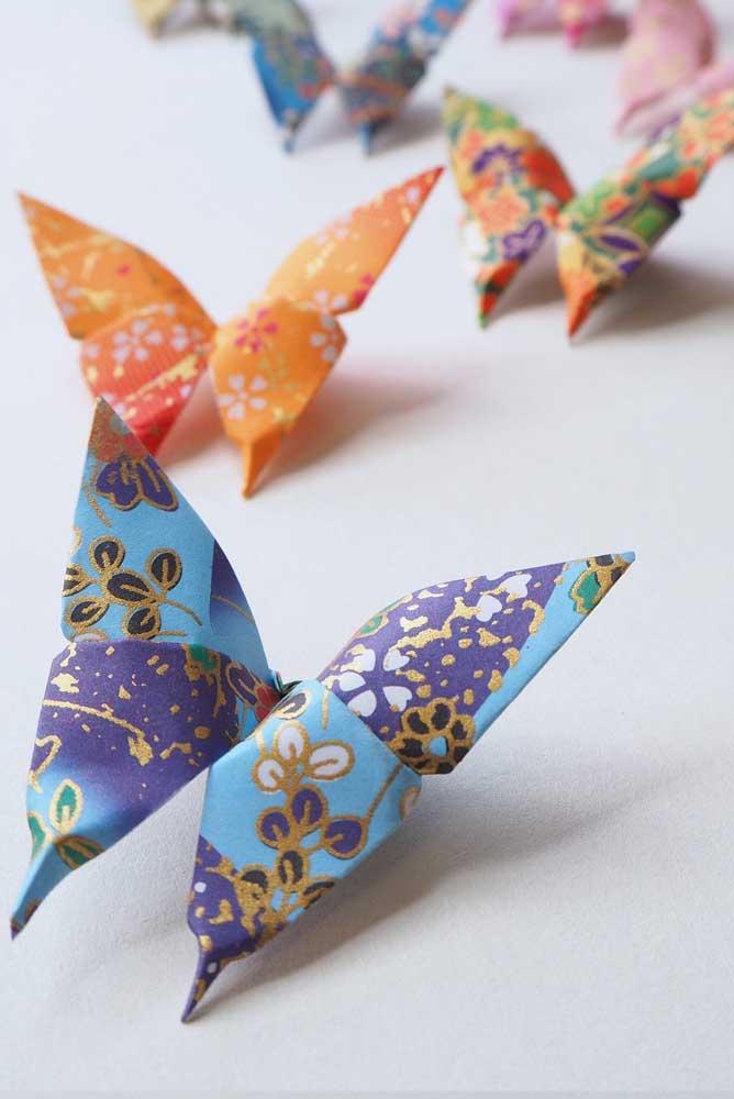 Origamis de borboletas: apaixonantes!