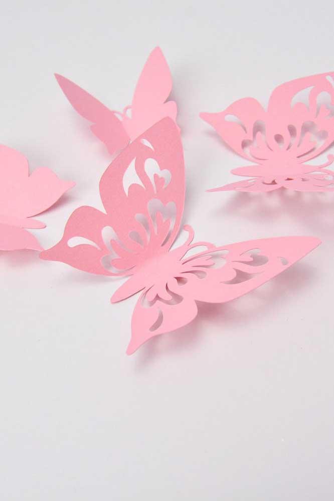 As borboletas vazadas podem ter uma ou duas camadas, você define