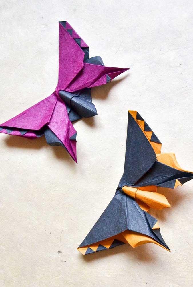 Borboletas feitas a partir de dobraduras de papel. Mais que uma decoração, uma terapia