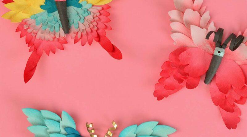 Borboletas de papel: como fazer passo a passo e 60 ideias incríveis