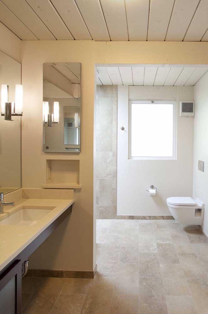 E no banheiro moderno, o vidro jateado vem provar sua versatilidade estética