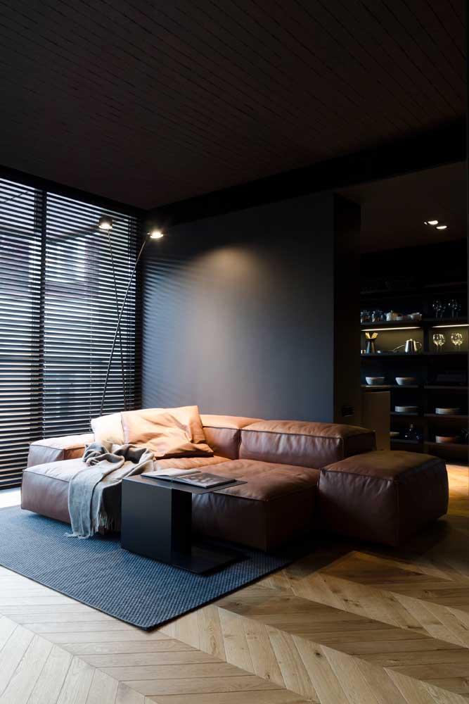 Sala com efeito blackout