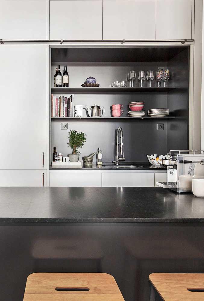 Organização para manter a cozinha americana sempre bonita