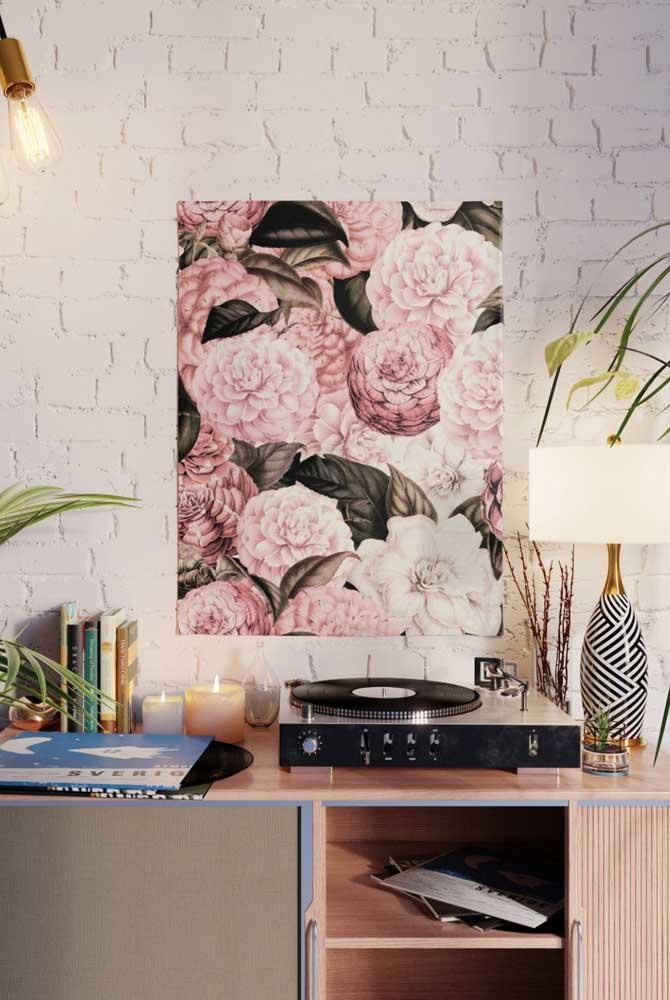 Quadro de camélias: cor, vida e alegria na decoração