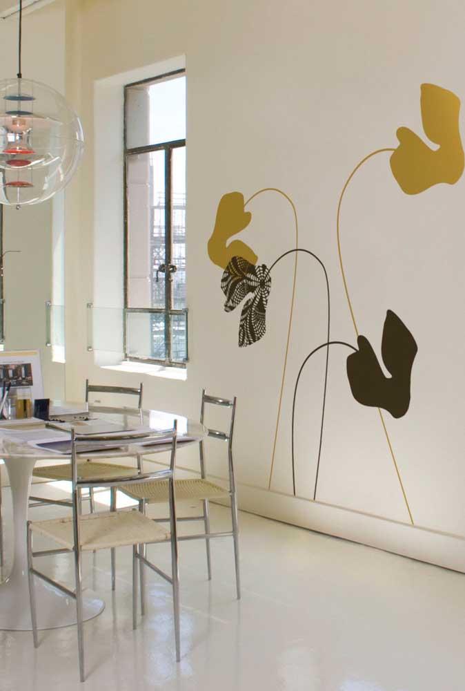 Adesivos de cíclame na parede. Um modo original de usar a flor na decoração