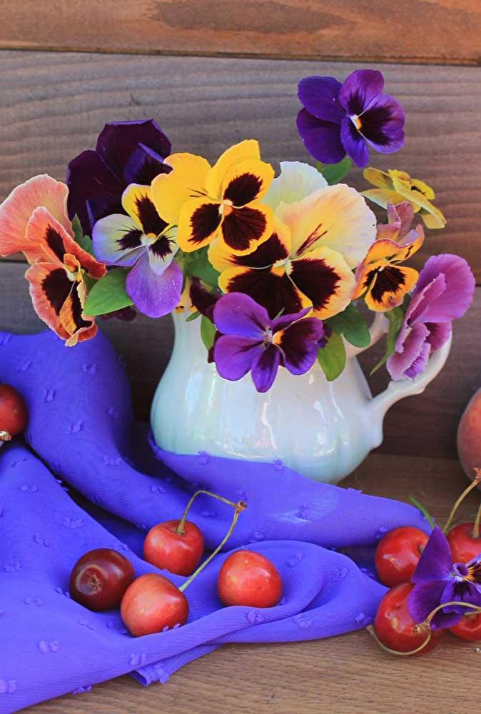 Use e abuse das tonalidades marcantes das flores do amor perfeito