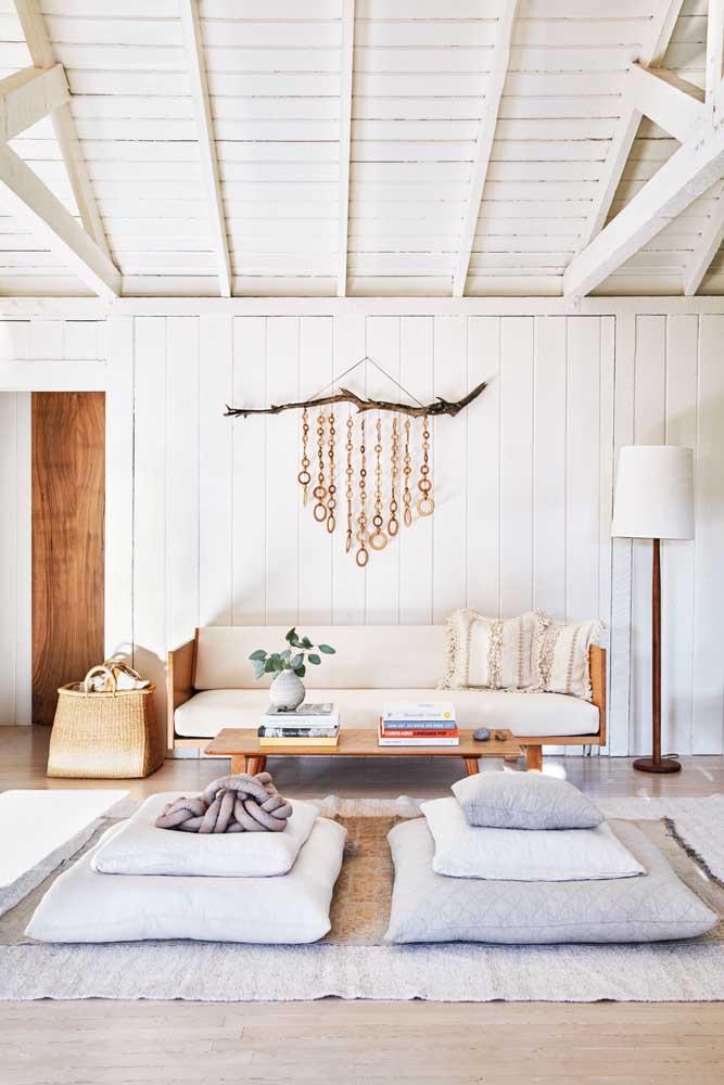 A almofada de nó deixa o momento do descanso ainda mais aconchegante e confortável