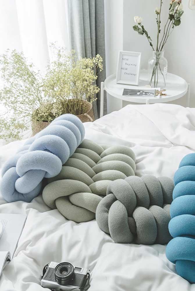 Conjunto de almofadas de nó para serem usadas como quiser