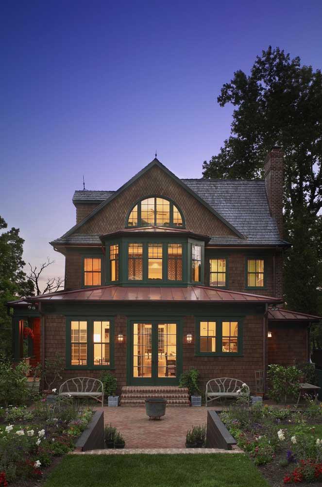 Uma casa e tanto para se inspirar!