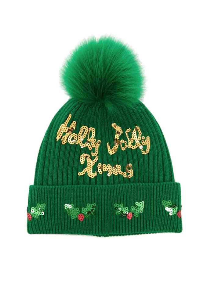 Mais uma bela inspiração de touca de crochê natalina