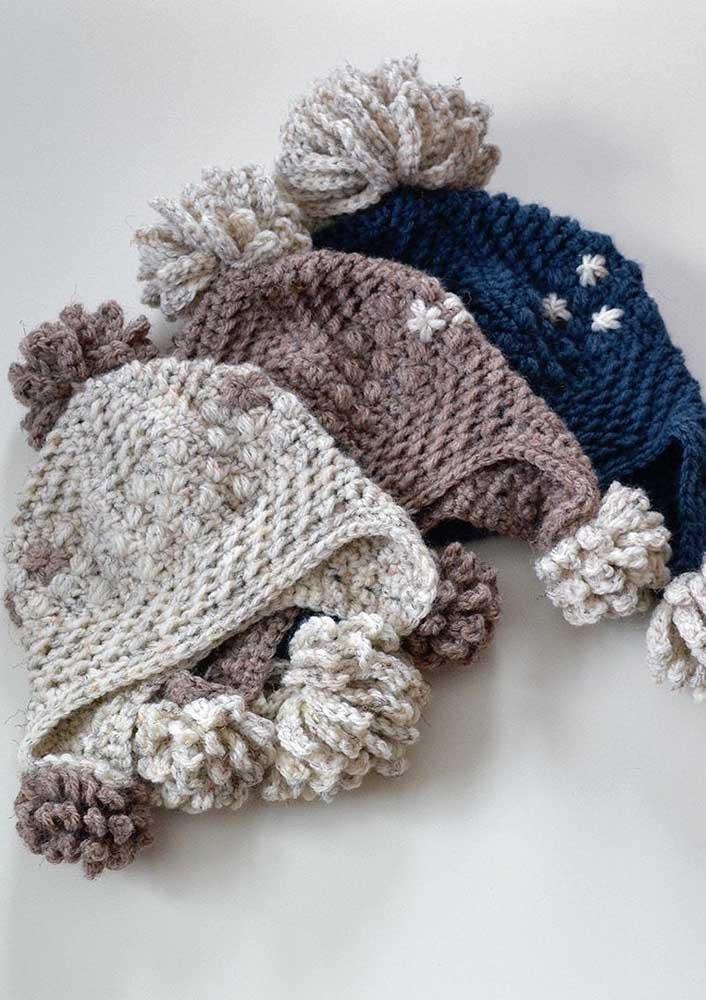 Caso decida fazer touca de crochê para vender tenha sempre em mãos diversas opções de cores para os seus clientes