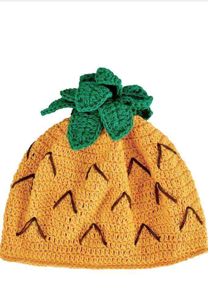 Que tal se inspirar em frutas para criar suas toucas de crochê?