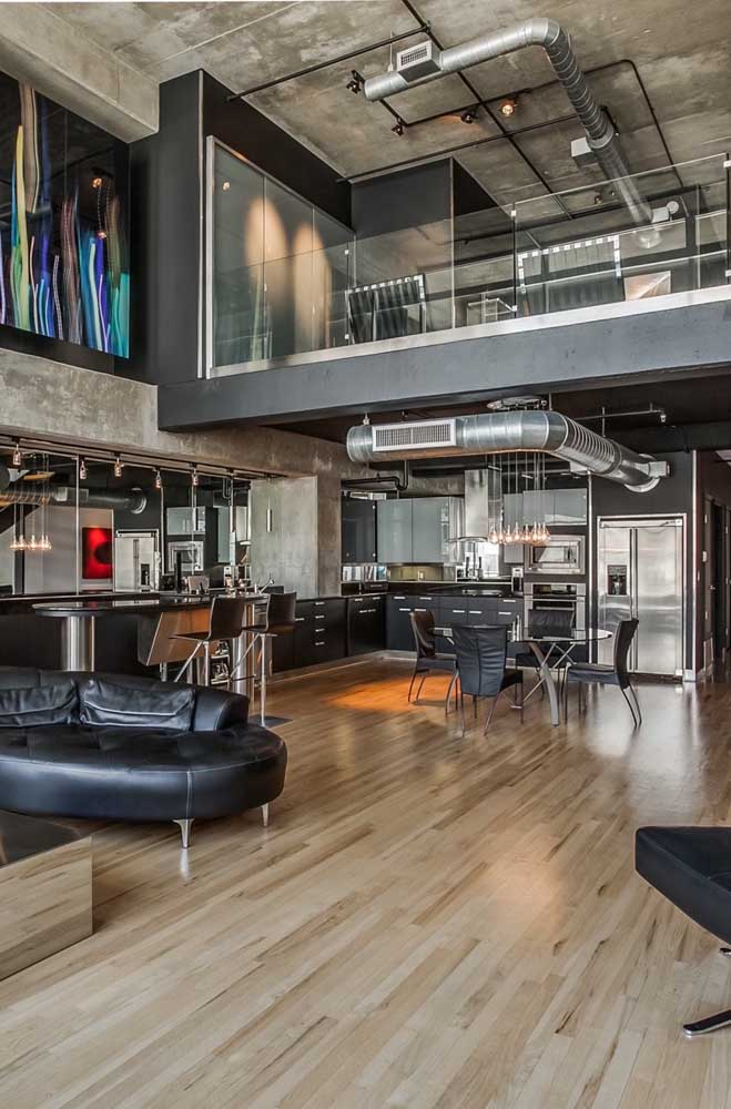 Penthouse com cara de loft. Super moderno!