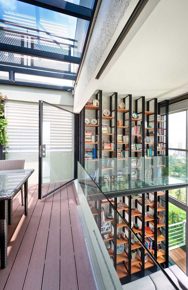 Quer uma biblioteca em casa? Na penthouse isso é possível