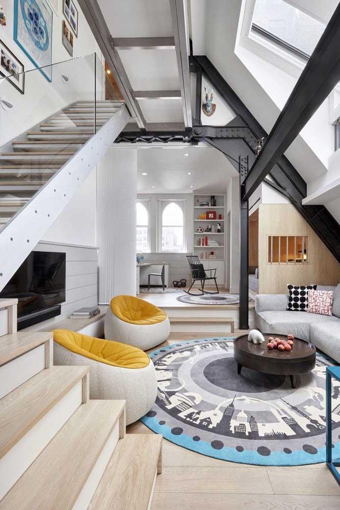 Uma penthouse super despojada e jovial para você se inspirar!