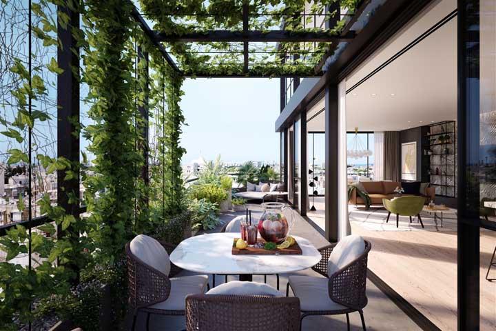 Um pedacinho da Toscana na penthouse!