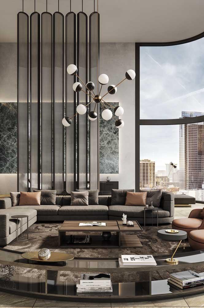 E que tal uma penthouse com paredes arredondadas? Um luxo só!