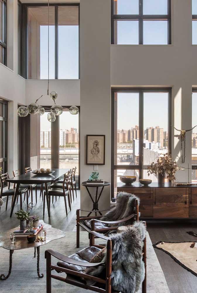 A integração é outra marca registrada das penthouse, característica do estilo moderna que a deu origem
