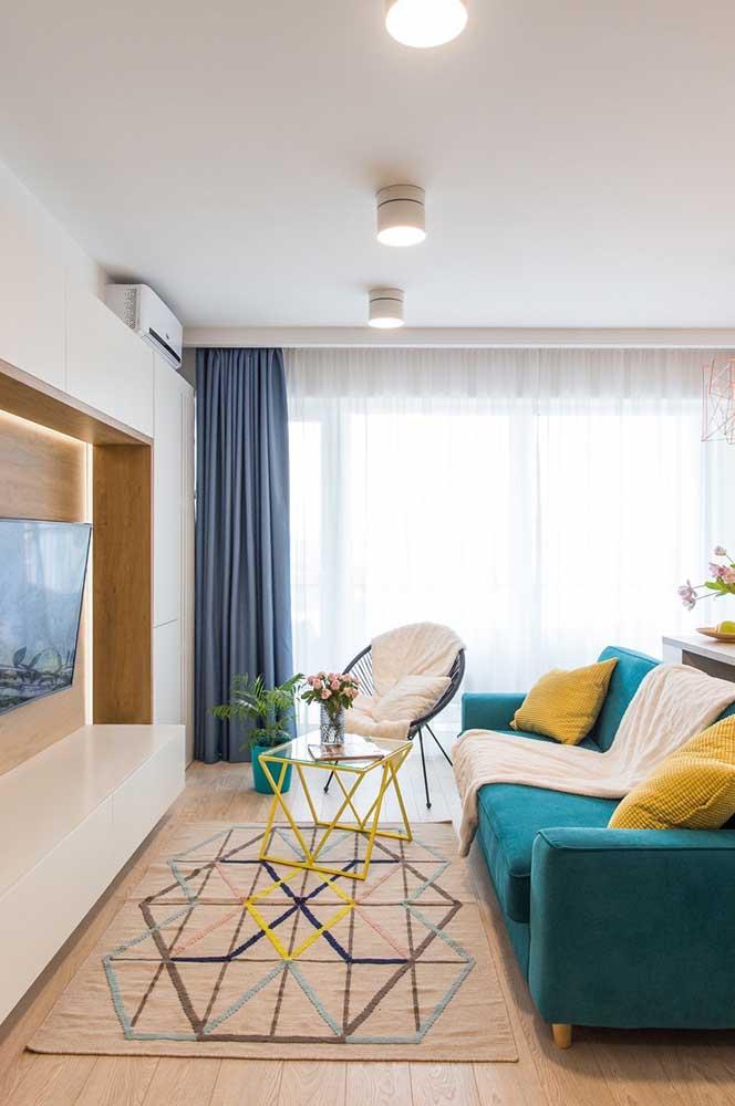 A graciosa poltrona Acapulco deixa qualquer sala mais descontraída e aconchegante