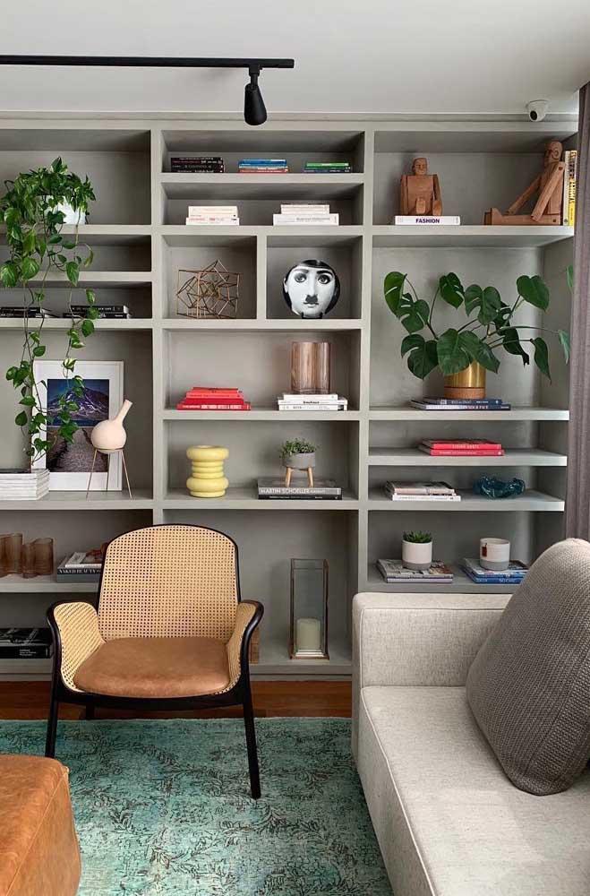 Poltrona de vime para sala de estar. Um clássico que pode ser muito bem aproveitado nas decorações modernas