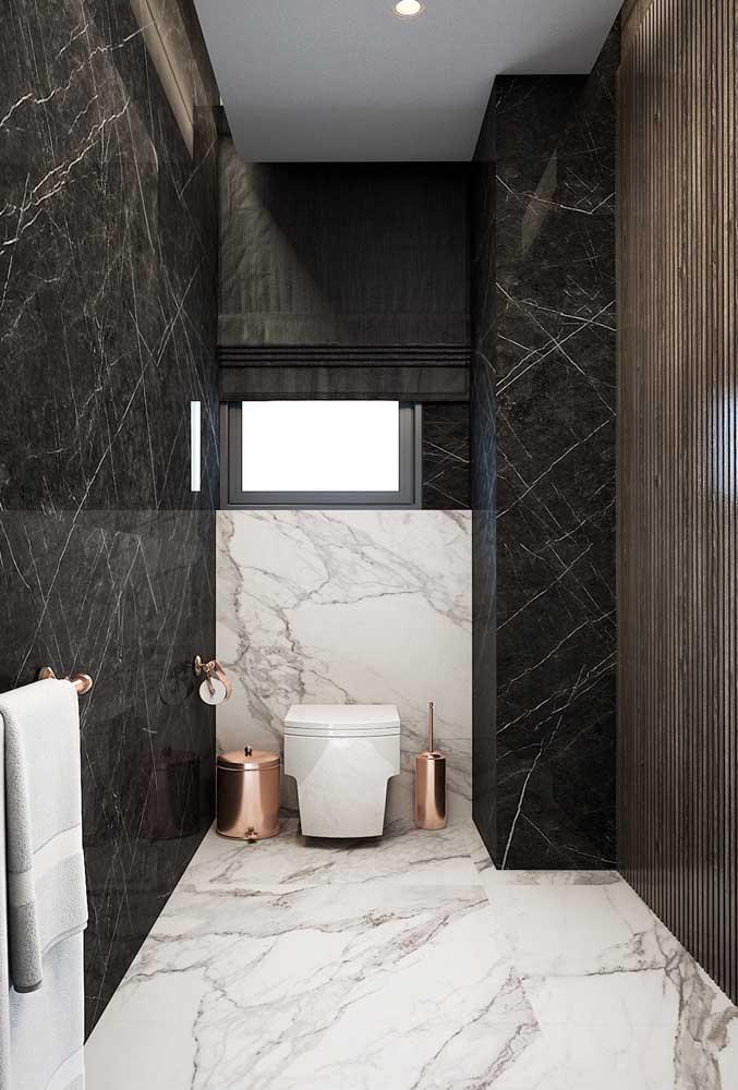 Esquadria de alumínio preta para o banheiro moderno e sofisticado