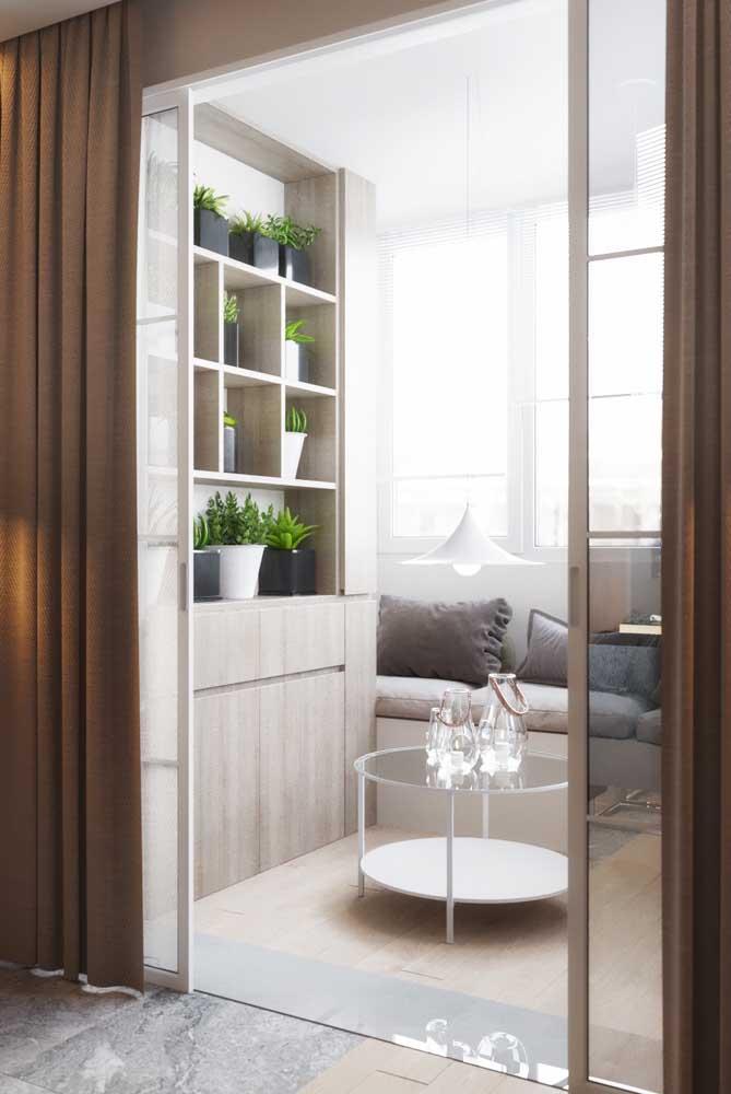 Esquadria de ferro branco para uma sala de estar clássica e elegante