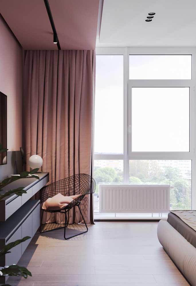 Esquadria de PVC para um quarto super iluminado