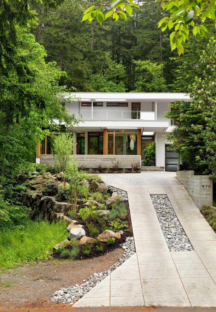 Esquadrias de vidro para a casa em meio a natureza