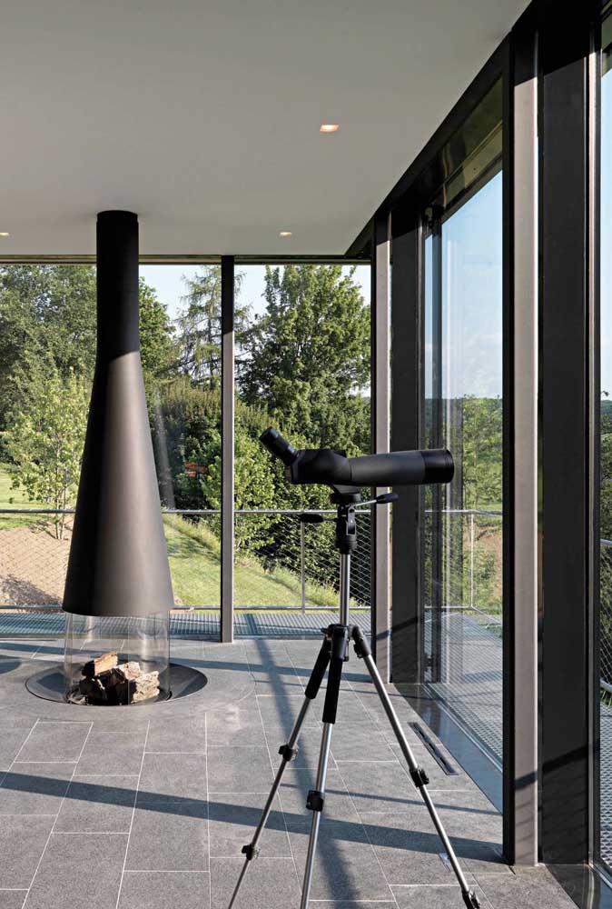 Esquadrias de vidro para contemplar a vista externa