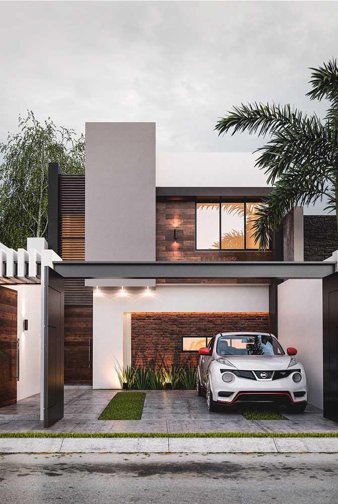 Escolha pontos específicos da fachada para receber a cor da sua preferência