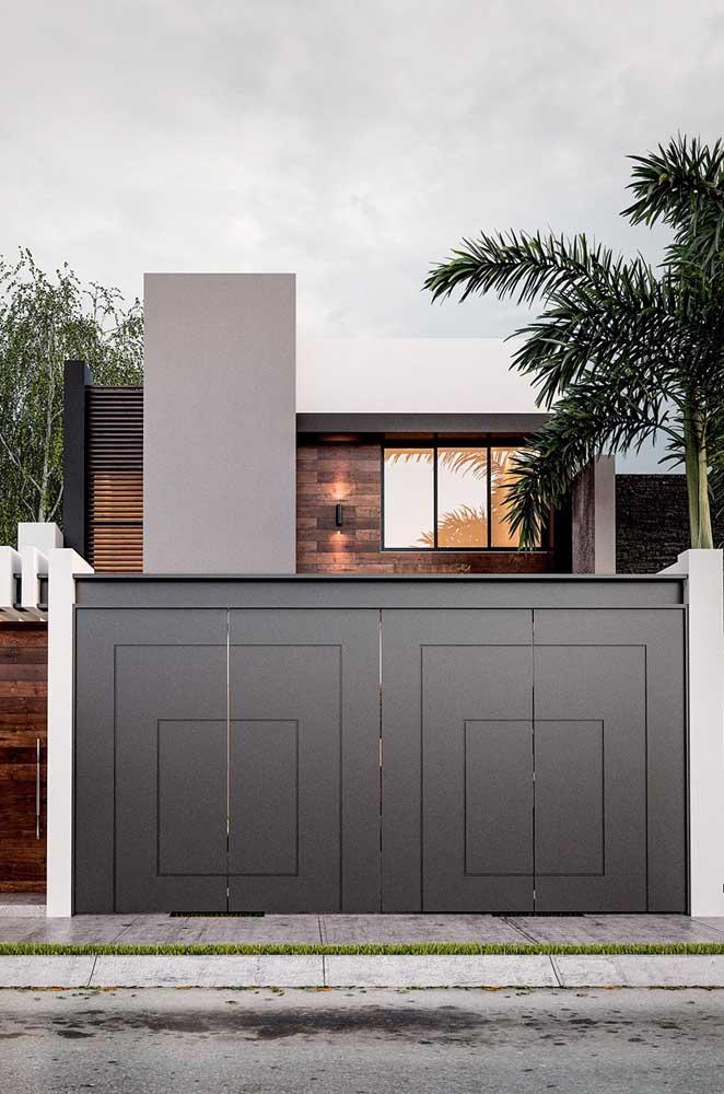 Detalhe cinza para modernizar a fachada da casa