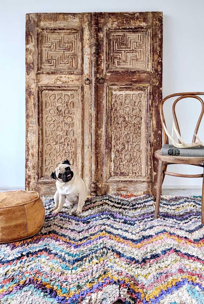 Tapete de frufru colorido em tamanho grande para cobrir todo o chão da sala de estar