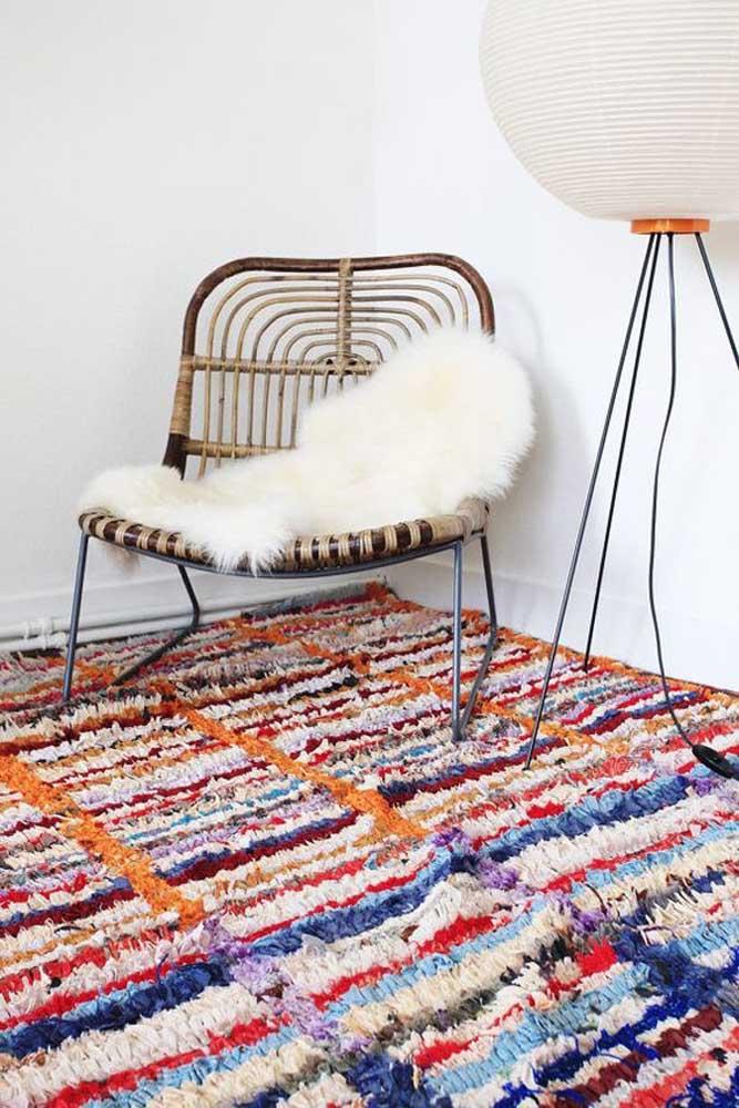 Escolha bem as cores dos frufrus para garantir aquele visual incrível no tapete