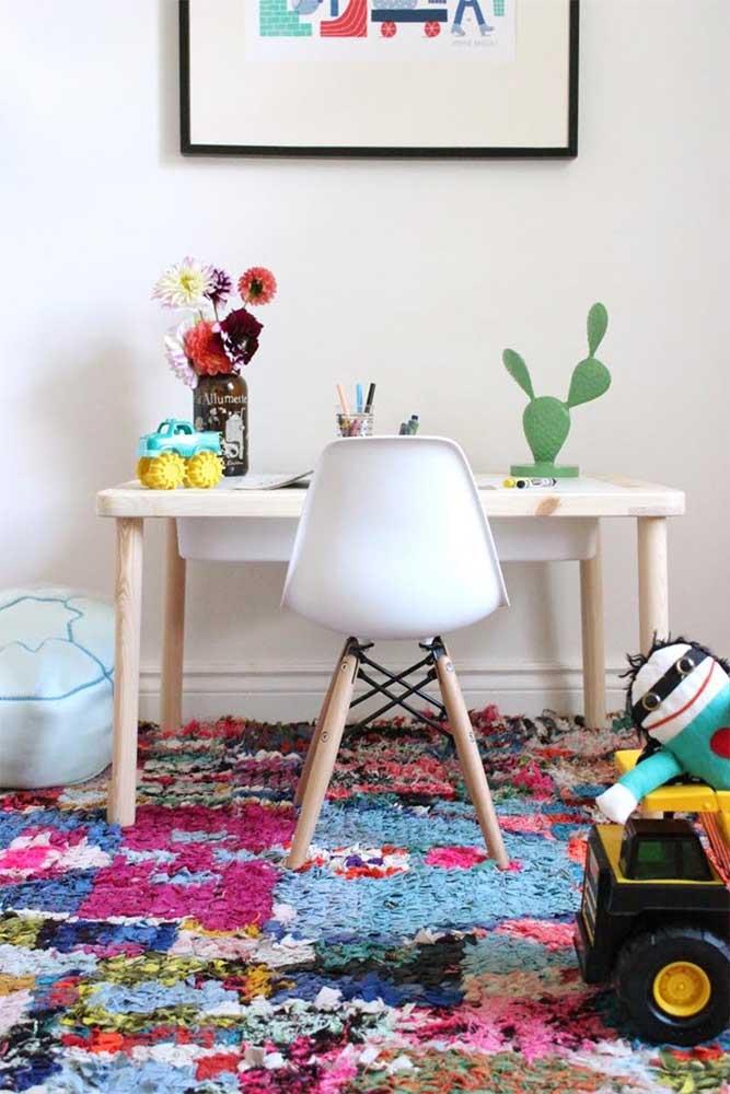 Tapete de frufru para o quarto infantil: conforto e beleza no espaço dos pequenos