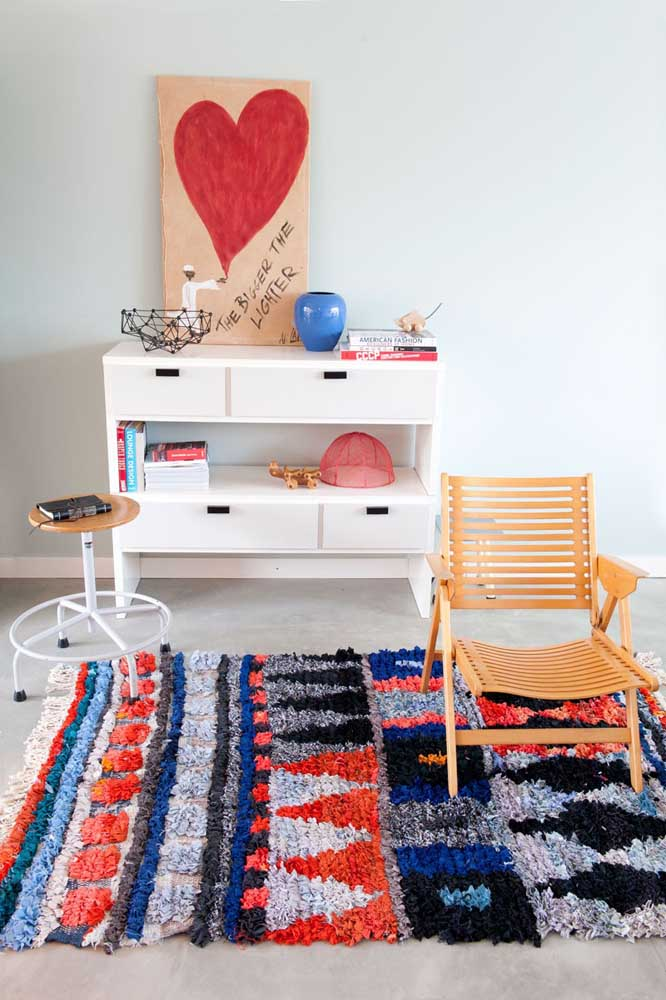 Paleta de cores moderna para o tapete de frufru do quarto