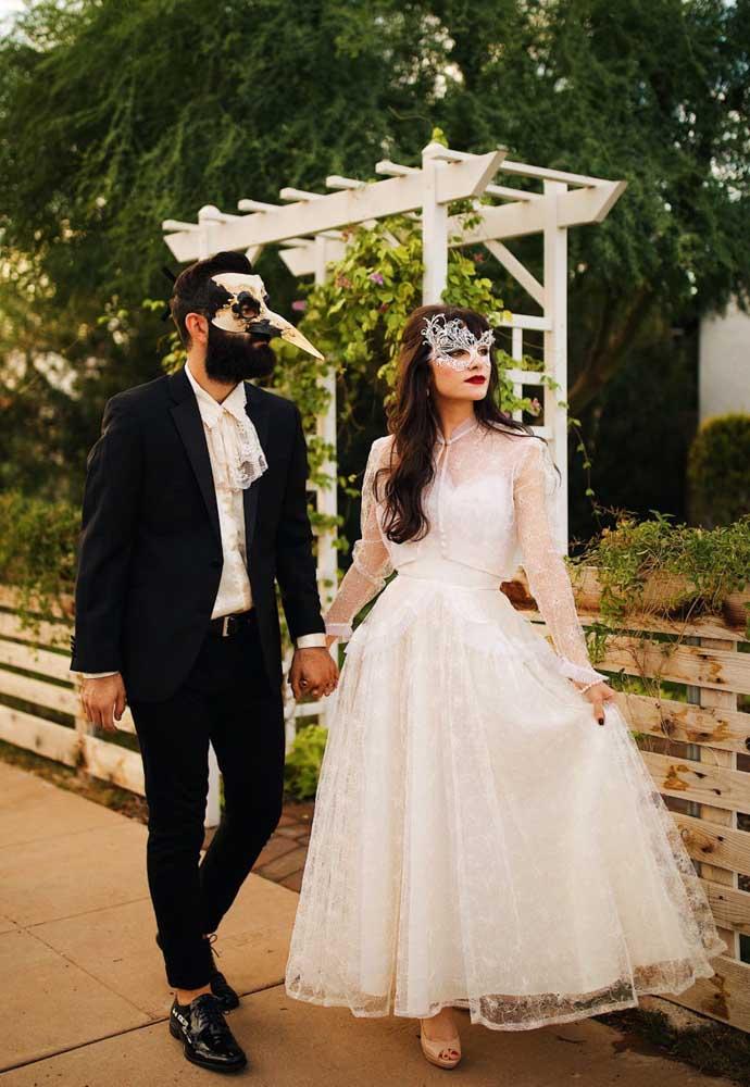 E que tal um casamento inspirado em um baile de máscaras?
