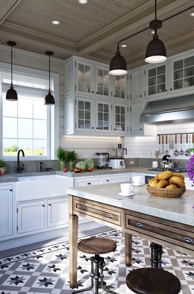 Três estilos em uma só cozinha: provençal, retrô e industrial