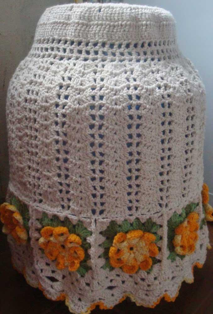 Se puder, tenha mais de uma capa de botijão em crochê, assim você pode trocar sempre que precisar