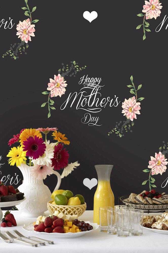 Painel em preto e branco para um dia das mães moderno e elegante