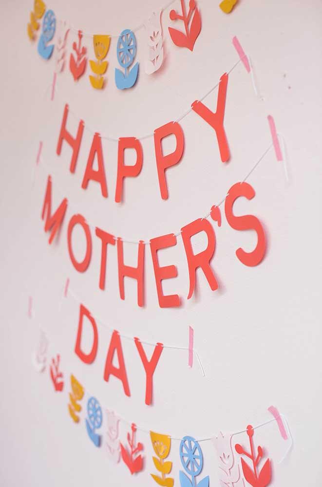 Não deixe de expressar um Feliz Dia das Mães no seu painel