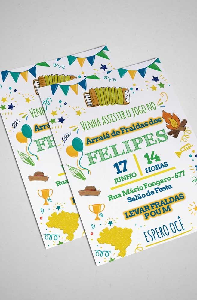 E que tal unir Copa do Mundo com festa junina e chá de bebê? Eita trem bão sô!